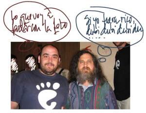 Richar Stallman y Alberto Permuy